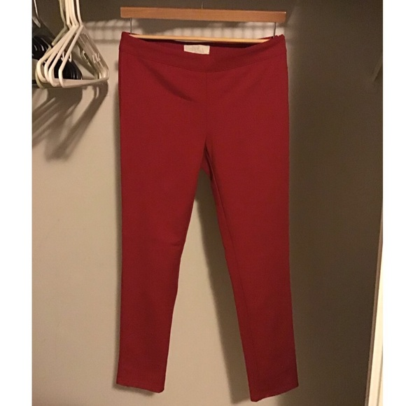 Red Skinny Women's Pants